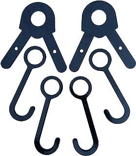 Fullbow Hang N Hook DIY Target Kit Targets Hanger for 1 Inch OD EMT Conduit Pipe Target Hanging Hook Assembly Stand-Target Stand Pipe Brackets 4 Hooks