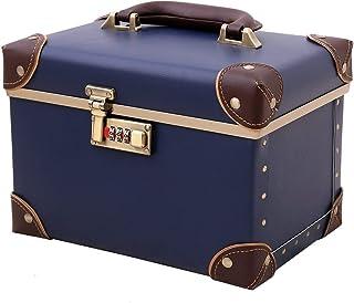حقيبة صندوق مستحضرات التجميل المحمولة لتنظيم مستحضرات التجميل، صندوق تخزين جلد مع قفل مختلط، حقيبة تخزين أكسسوارات التجميل...