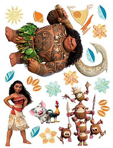1art1 Vaiana - Kakamora, HEI HEI, Pua, Moana and Maui Wand-Tattoo | Deko Wandaufkleber für Wohnzimmer Kinderzimmer Küche Bad Flur | Wandsticker für Tür Wand Möbel/Schrank 85 x 65 cm