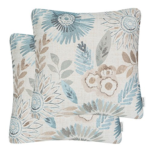 Fantastic Prices! Mika Home Pack of 2 Decorative Throw Pillows Cases Cushion Cover for Sofa Couch Be...