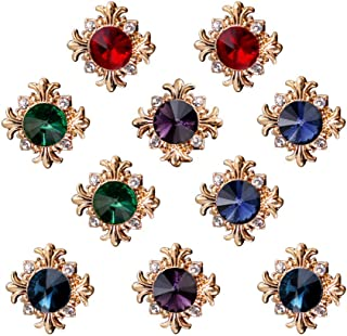 10-Pack Vintage Brooch Shirt Suit Lapel Pin Vest Safety Pushpin Buckle Decorate Button Metal Tie Tacks Pin Back Clutch