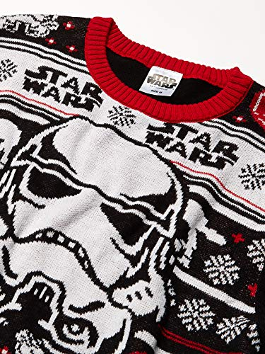 Star Wars Men's Stormtrooper Sweater, Black, Small