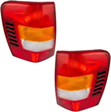 Taillights Tail Lamps with Circuit Boards Driver and Passenger Replacements for 99-02 Jeep Grand Cherokee 5101897AB 5101896AB