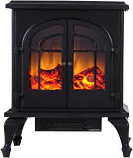 Valuxhome 24 Inches Compact Space Heater Electric Fireplace Stove Heater, 1500W, Black