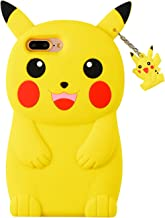 TopSZ Yellow Pikacu Case for iPhone 6/6S,Silicone 3D Cartoon Hero Animal Cover,Kids Girls Teens Boys Man Animated Cool Fun Cute Kawaii Soft Rubber Funny Unique Character Cases for iPhone6/6S 4.7