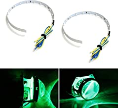 iJDMTOY Emerald Green 15-SMD High Power LED Demon Eye Halo Ring Kit For Car Motorcycle Headlight Projectors or Aftermarket 2.5 2.8 3.0 Inch Retrofit Projector Lens