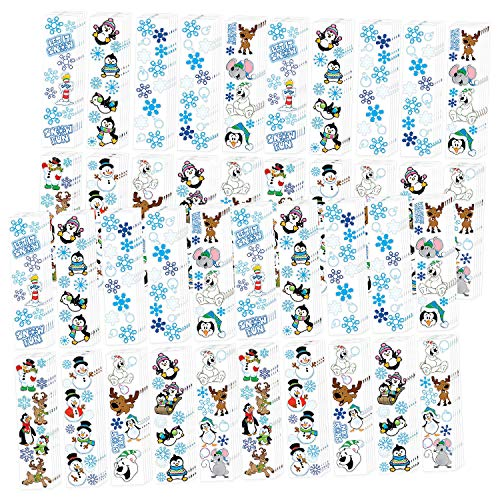 Fun Express Paper Winter Stickers | 200 Count | Great for Winter Season, Christmas Celebrations, and Special Occasions