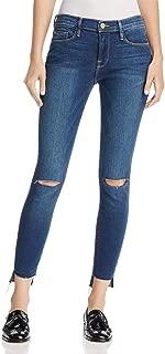 Frame Denim Womens Jeanne Denim Distressed Skinny Jeans