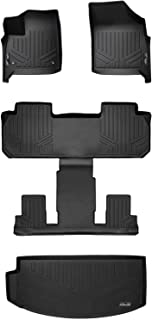 MAXLINER Floor Mats 3 Rows and Cargo Liner Behind 3rd Row Set Black for 2018-2019 Buick Enclave with 2nd Row Bucket Seats
