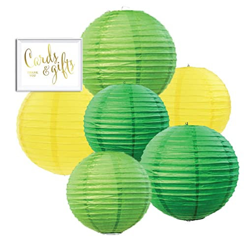 Green And Yellow Party Decorations Amazon Com
