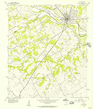 Texas Maps - 1956 Hico TX - USGS Historical Topographic Wall Art   20in x 24in