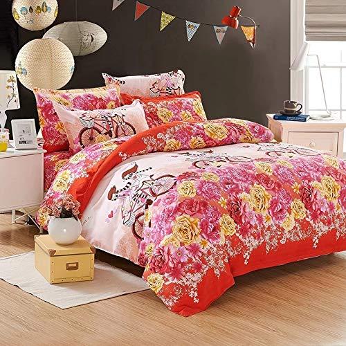 huyiming bed linings Verwendet für Bettwäsche vierteiliger Bettbezug Vierteiliger Satz: Bettbezug1.8 * 2.2m, Bettlaken2 * 2.3m, Kissenbezug74 * 48cm2
