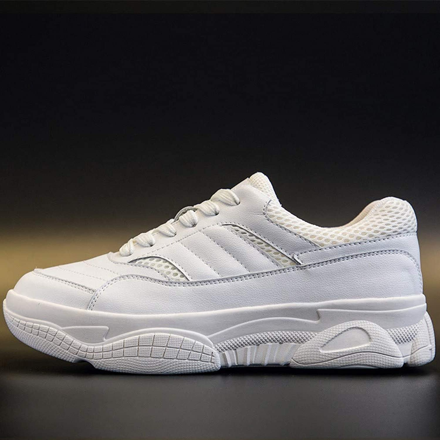 ZHIJINLI Small white shoes, versatile casual shoes, sports shoes, thick and light, wearable, 7 SIZE