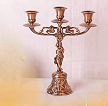 Estrymiw Metal Candle Holder Candlestick Iron Candelabra European Style Vintage Candle Stand for Christmas Birthday Gift H...
