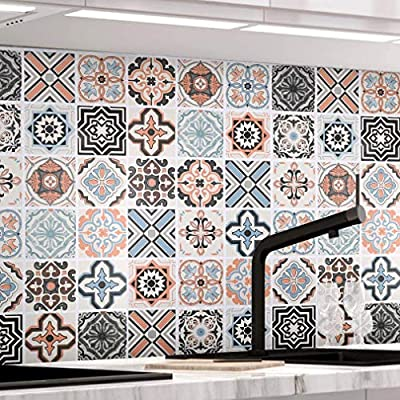 Tamaño: ancho de membrana: 0,61 m Longitud de membrana: 5 m Material de protección ambiental: PVC Simplemente pegue el borde de la película de azulejos en los azulejos viejos, y luego pegue los azulejos en los azulejos, hágalo usted mismo, no hay suc...