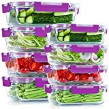 UMI UMIZILI Glass Meal Prep Containers, Set of 8, 2 Capacities [34oz, 12oz] for Food Storage,...