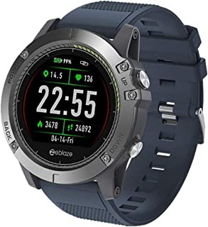 FBLWT Smartwatches Zeblaze Vibe 3 HR Smartwatch Ip67 Smart Wrist Fitness Podómetro Cámara Remota IPS Color Display Smart Watch (para iOS Y Android)