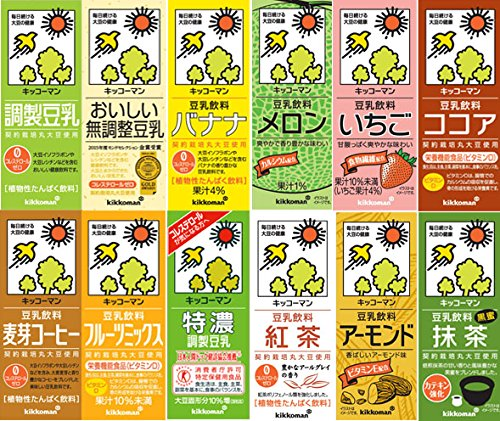キッコーマン豆乳 200ml各種詰合せ 36本セット(12種類×3本づつ) 常温保存可能