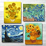 YASEN Van Gogh Canvas Wall Art Posters and Prints of Famous Painting Abstract Wall Art Prints Unframed Art 8x10 Vincent Van Gogh Poster Artwork (4 Pack A)