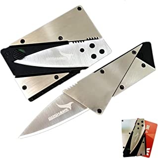 Goshawk Survival Tool Credit Card Folding Knife Stainless Steel Multi-Function Card Shape Pocket Wallet Knife Cutter