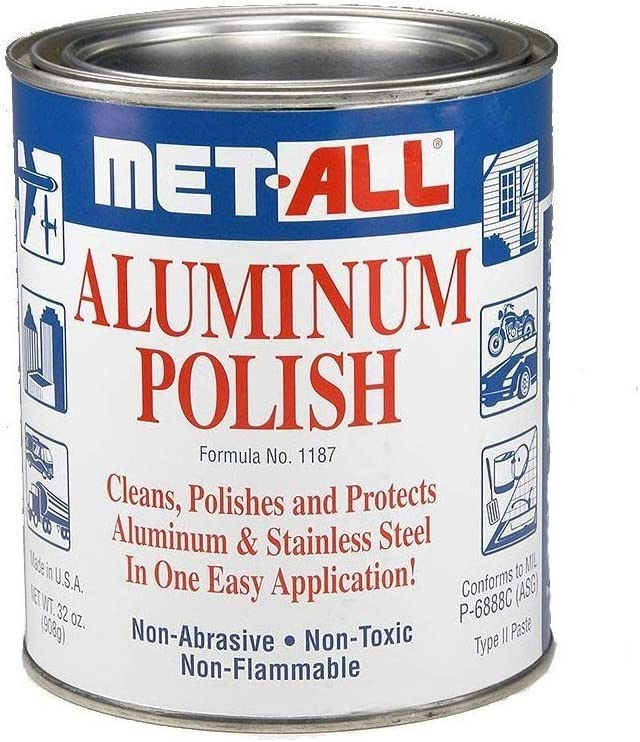 met-all Aluminum Stainless Atlanta Mall Steel Polish Columbus Mall in E Polishes One Cleans