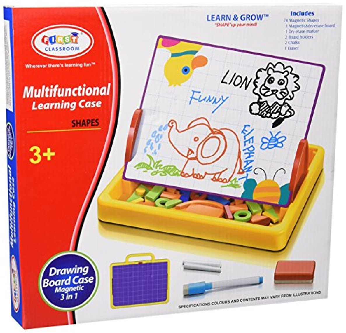 Te - Trend 18645?–?Educational Toy 3-in-1?Shapes Magnetic Board