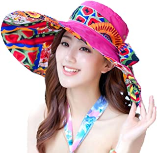 PANDA SUPERSTORE Rose Bohemia Style Women Hat Wide Brim Hat Beach Hat for Summer Use