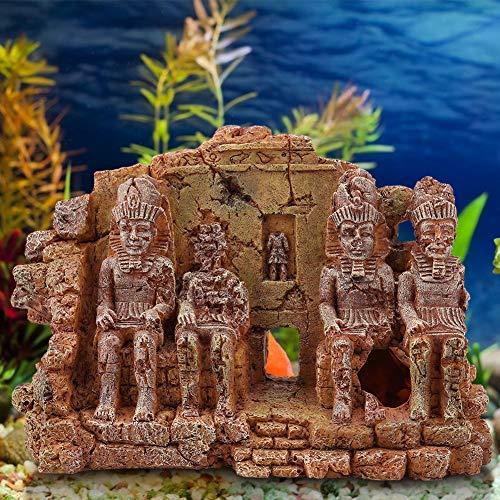 Duokon Estatua Decorativa de Resina Artificial para Acuario, diseño de casa de Buda