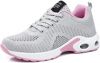 Basket Sneakers Femme pour Running Chaussures de Course Lacets Air Coussin 4cm Noir Rouge Rose Violet Blanc 35-42