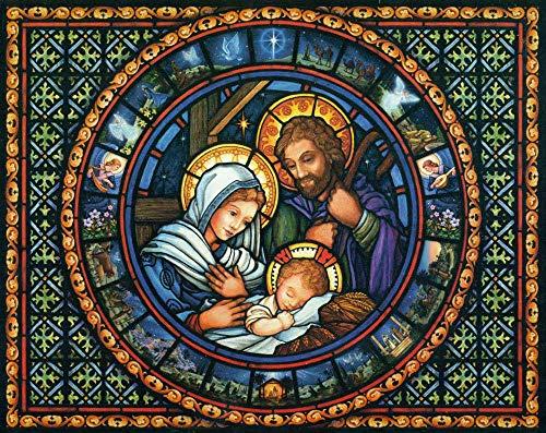FAWFAW 1000 Piece Wooden Jigsaw Puzzles, Santo Jesús Y Virgen Adultos Niños Puzzles Juegos De Juguete