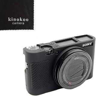 kinokoo SONY ソニー DSC-RX100M5 / RX100M3 / M4 / M5 / M6 デジタルカメラ専用 シリコンカバー カメラケース カメラカバー 標識クロス付き (BK)