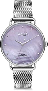 Omax Women's Prime Collection Watch, Purple/Silver-PMM01P76I