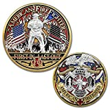 American Firefighter First in Last Out Challenge Coin