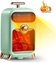 Retro Pequeño Calentador Escritorio 3D Estufa Simulación Calentador De Cerámica 170 * 150 * 330 Mm 3 Segundos La Protección del Calor Rápida, Retardante De Llama De Cáscara