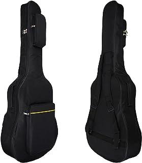 ギターケース ギグバッグ 撥水加工 クッション付き ソフトバッグ リュック型 手提げ 最新版 二色展開(ブラック)