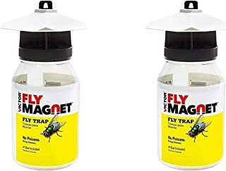 Victor M380 Fly Magnet 1-Quart Reusable Trap With Bait(2Pack)