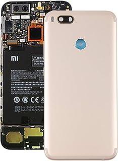 修理部品 Xiaomi Mi 5X / A1用カメラレンズ付きバックカバー(ブラック) スペアパーツ (Color : Gold)