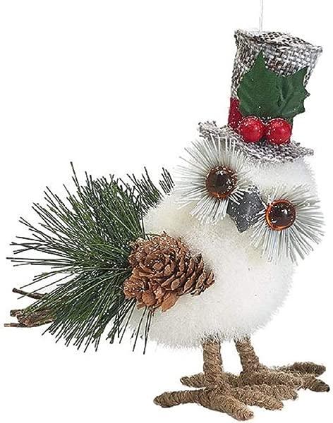 Holiday Owl Christmas Ornaments White Cute Small X Mas Ornament Tree