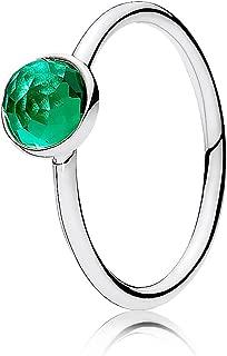 May Droplet Birthstone Ring