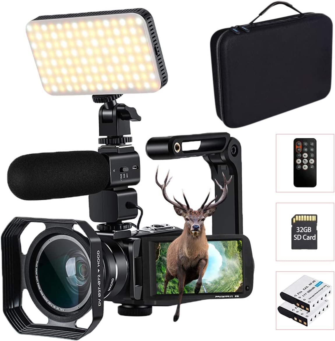 4K Camcorder with 10X Optical Mi Portland Mall Light Overseas parallel import regular item LED Connecting Zoom
