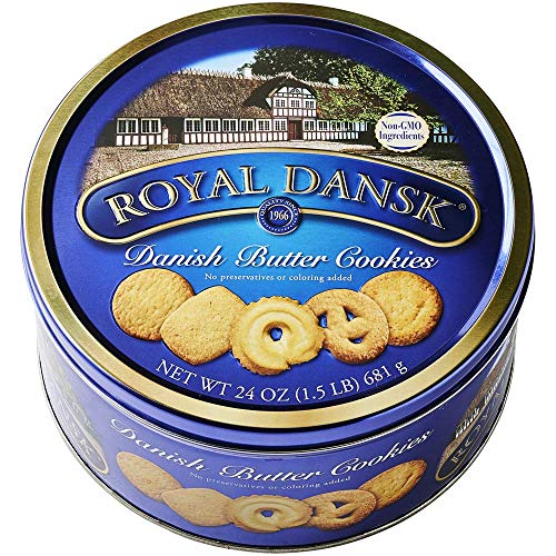Danish Cookies Tin, Butter, 24 Ounce