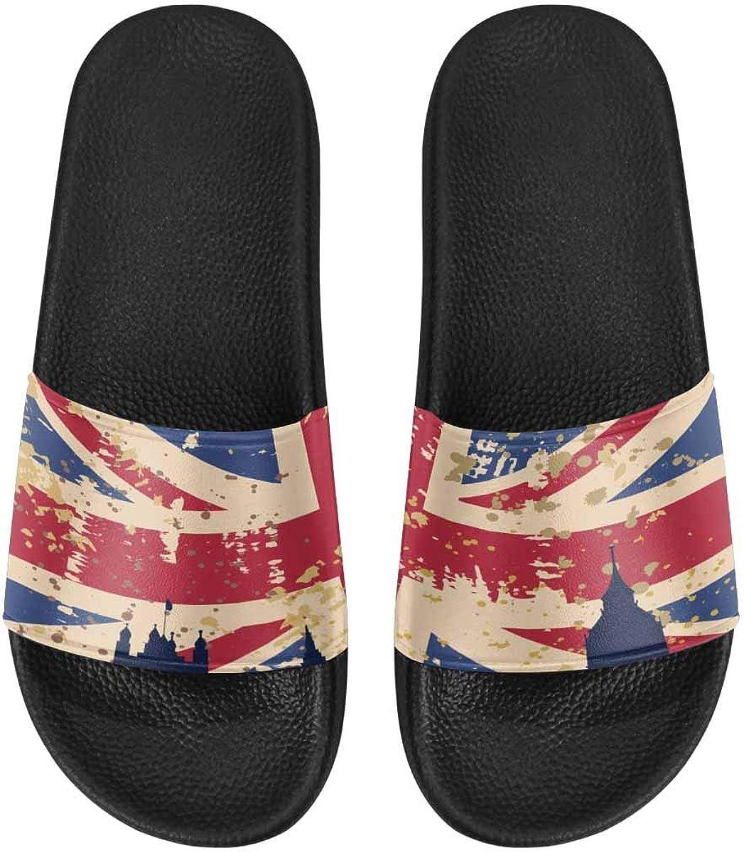InterestPrint Women's Casual Slide Sandals for Indoor Outdoor an