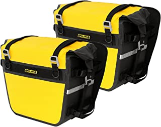Nelson-Rigg Yellow/Black SE-3050-YEL Sierra Dry Saddlebags 100% Waterproof Mount to Most Adventure and Dual Sport Motorcycles