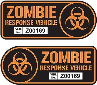 Zombie Response Vehicle Sticker Set Vinyl Decal Car Truck SUV Decal Badge Halloween