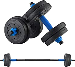 NJ508 Adjustable Weights Dumbbells Set Fitness Dumbbells Set for Men and Women with Connecting Rod Can Be Used As Barbell