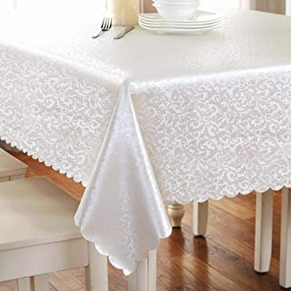 Rectangle Stain Resistant Table Cloth Household Wear Resistant Tablecloth Spillproof and Waterproof Table Cloth Light Cham...