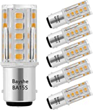 Bayshe 3W 12V BA15S S8 SC Bayonet Single Contact Base 1156 1141 LED Light Bulb 2700K Warm White,Low Voltage AC/DC 12volt Landscape Path Deck RV Camper Marine Boat Trailer Lighting-Pack of 5