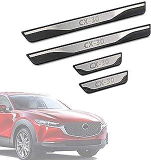 N//A 4 Pezzi Soglia Porta Battitacco per Mitsubishi ASX 2011-2020 Auto Pedale Calci Scuff Benvenuto Threshold Bar Striscia Protezione Accessori Decorativi Acciaio Inossidabile