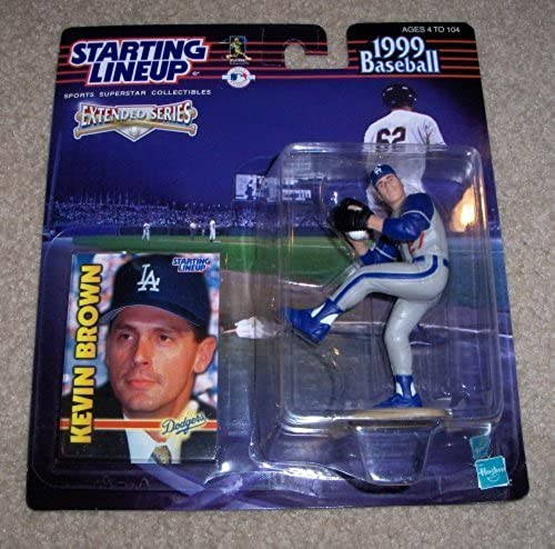 1999 - Hasbro - Starting Lineup - MLB - Extended Series - Kevin braun  27 - Los Angeles Dodgers - Vintage Action Figure - w  Trading Card - Limited Edition - Collectible by Starting Line Up
