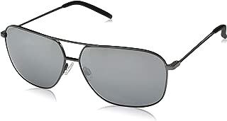 Maui Jim Sunglasses | Kami DGS778-02D | Gunmetal Aviator Frame, Polarized Dual Mirror Lenses